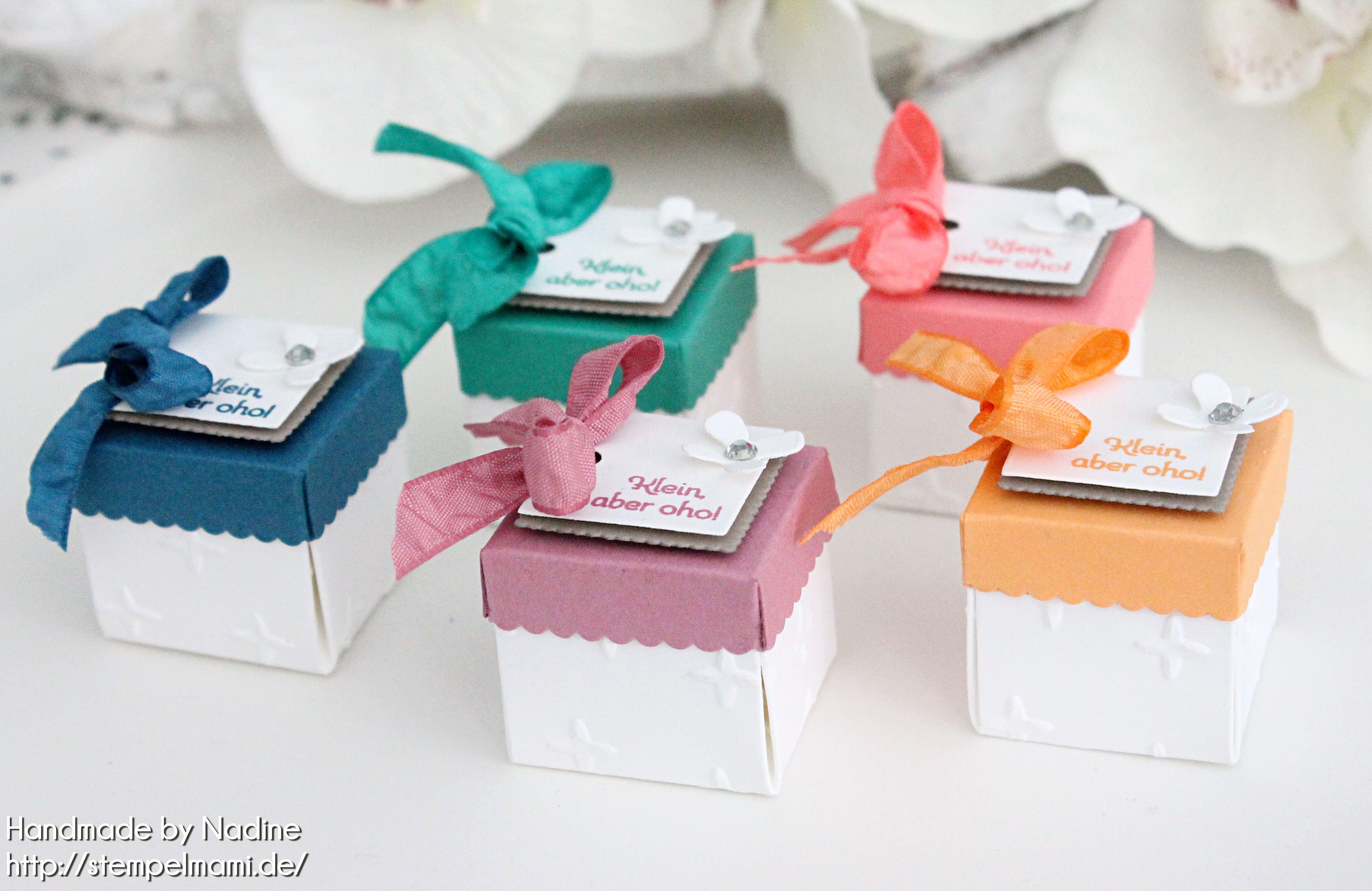 Mini Box als Gastgeschenk, Klein aber Oho