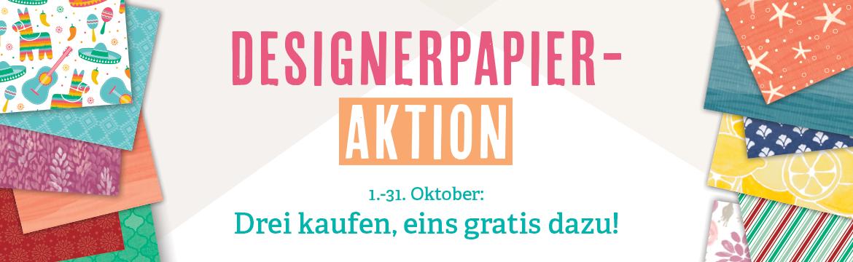 Stampin' Up! Designerpapier-Aktion 3 kaufen, 1 gratis dazu