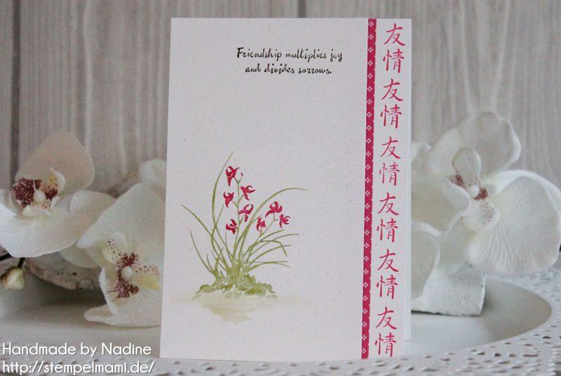Eine Grusskarte mit dem Stempelset Artistically Asian