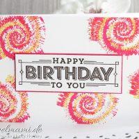 Geburtstagskarte in Batik