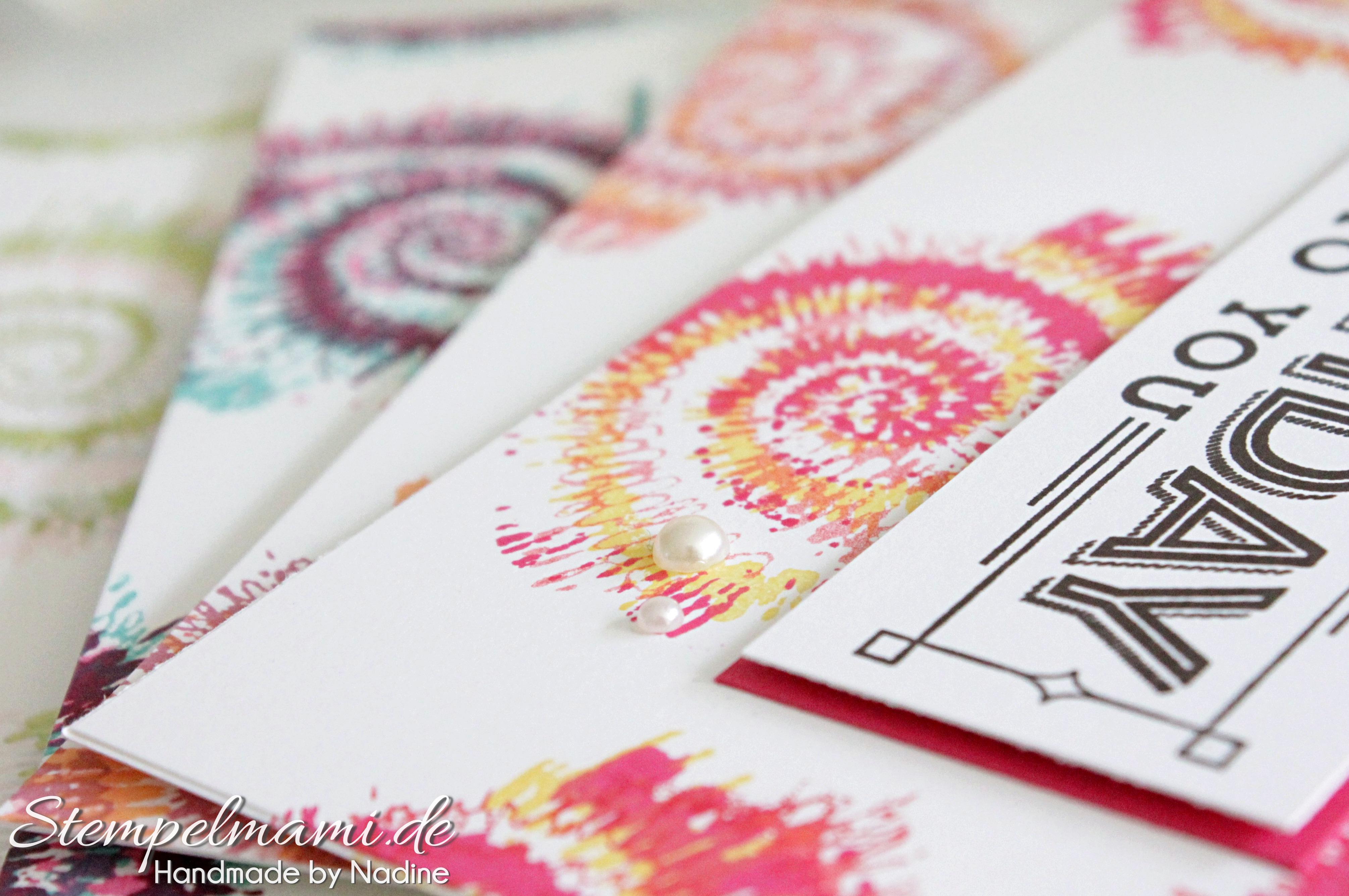 Geburtstagskarte in Batik - Basteln mit Stampin`Up!