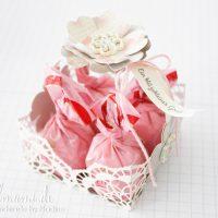 Stampin' Up! Anleitung Tutorial Valentinstag, Osterkorb oder Körbchen aus Zierdeckchen basteln
