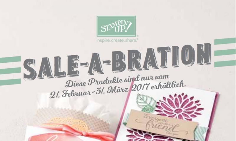 Stampin' Up! Sale-A-Bration 2017 – ab heute sind die neuen Produkte erhältlich