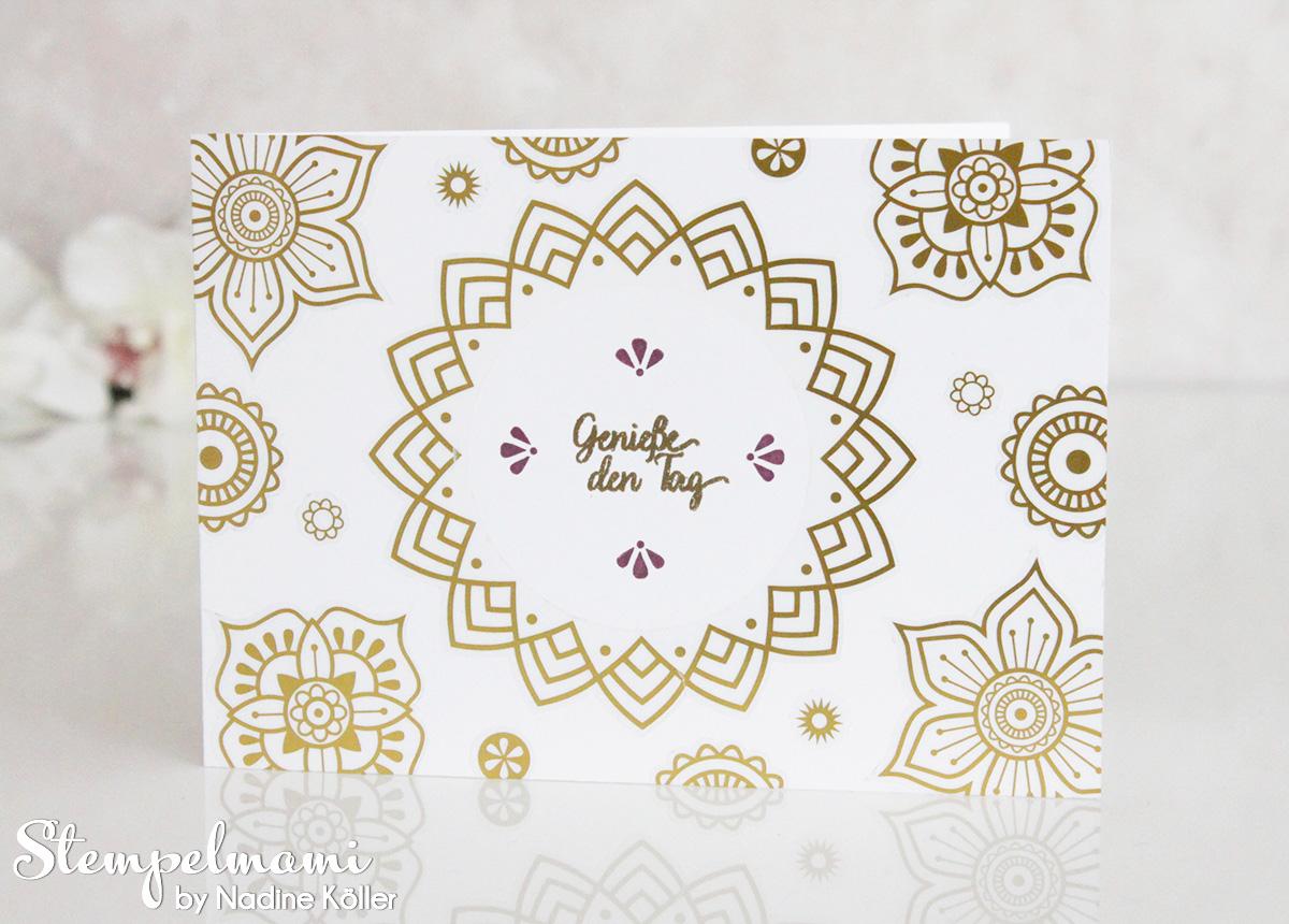 Dankeskarte im orientalischen Style
