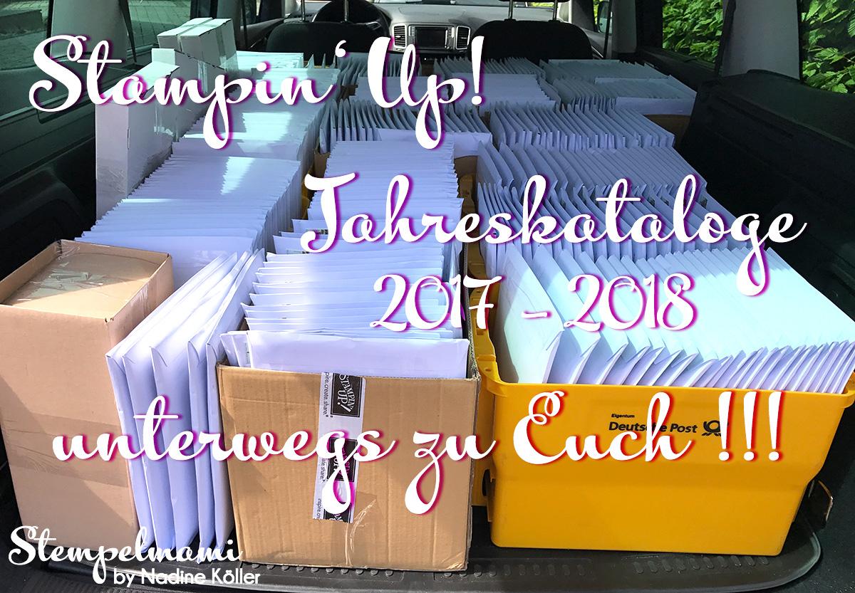 Bestellte Stampin' Up! Jahreskataloge 2017 – 2018 unterwegs zu Euch