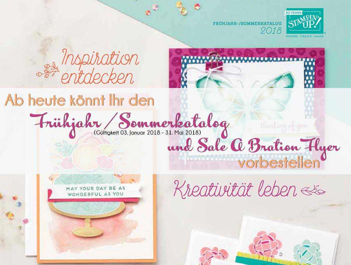 Stampin Up Frühjahr Sommerkatalog Nebst Sab Flyer 2018