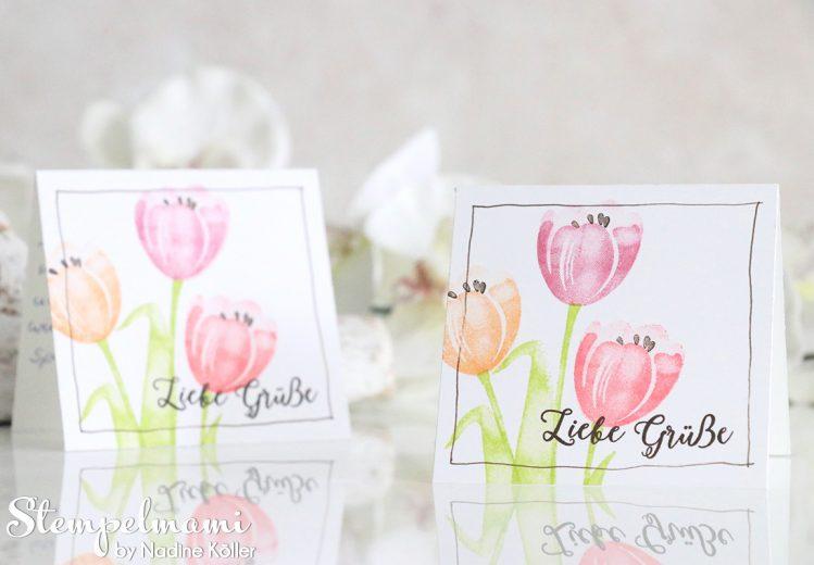 Mini Grusskarten Tranquil Tulips