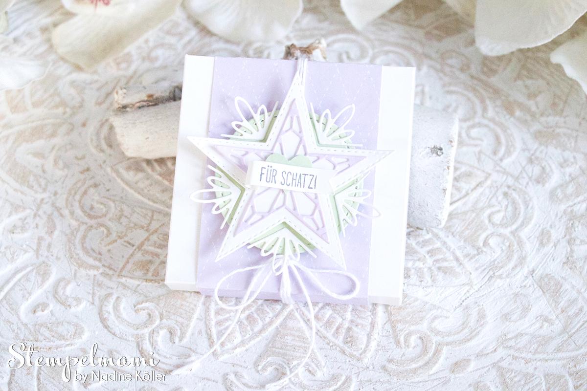 Stampin Up Goodie Verpackung Sternenglanz Milka Schokolade Stempelmami 1