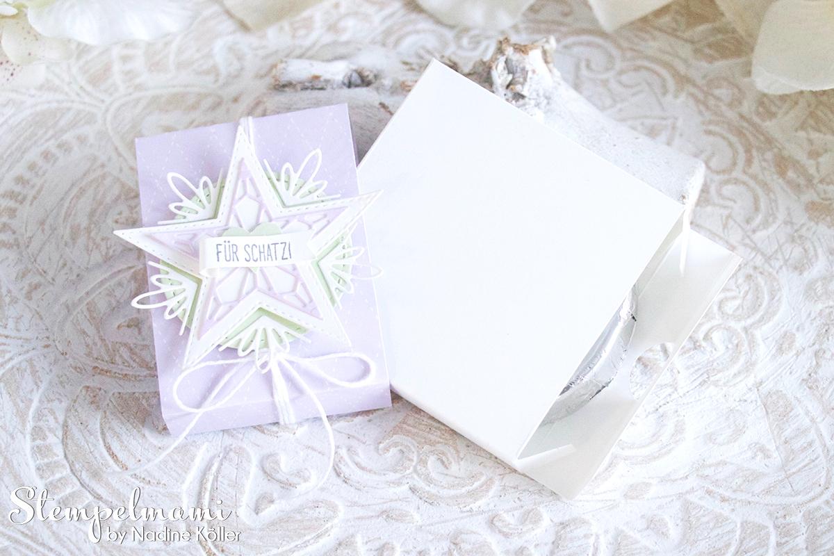 Stampin Up Goodie Verpackung Sternenglanz Milka Schokolade Stempelmami 3