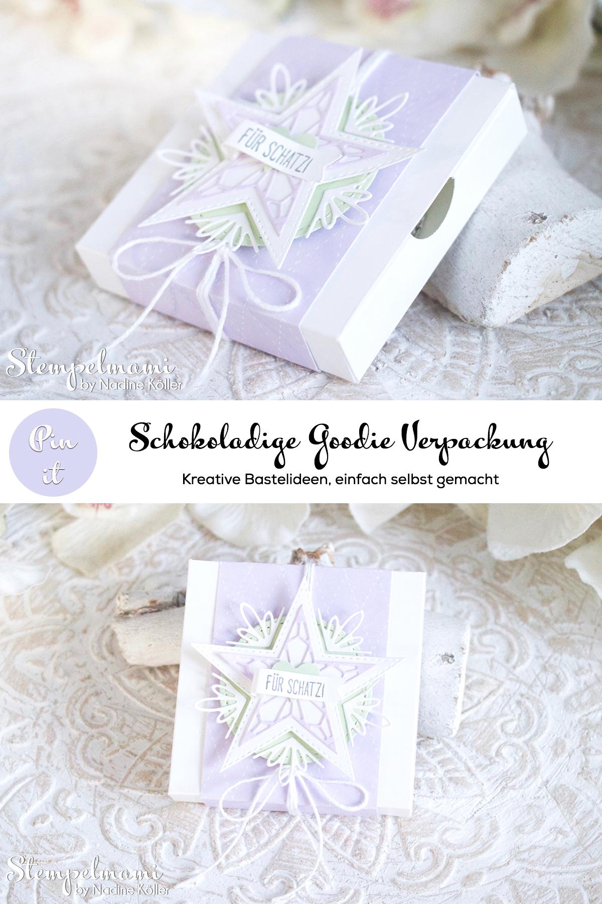 Stampin Up Goodie Verpackung Sternenglanz Milka Schokolade Stempelmami 4