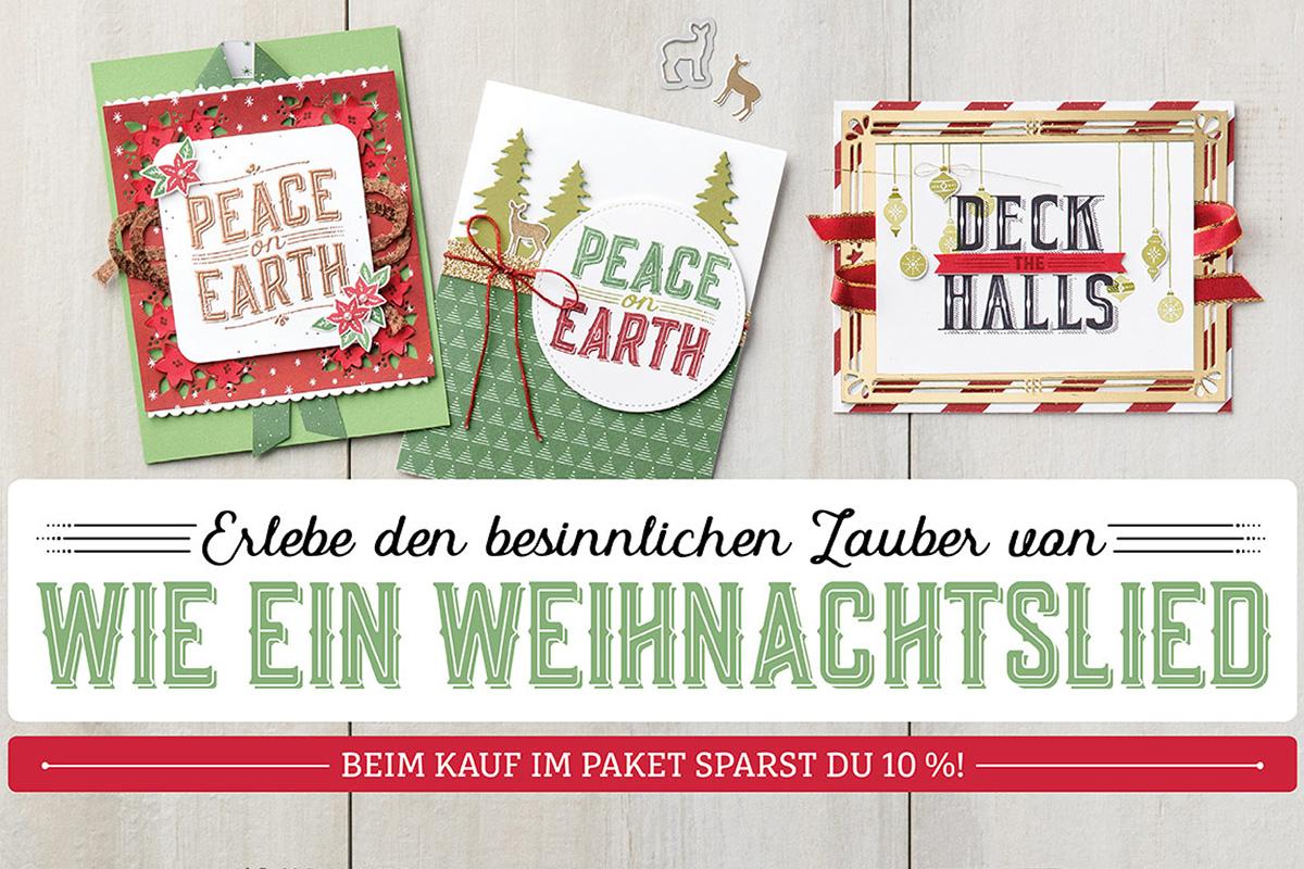 Wie ein Weihnachtslied mit 10% Rabatt - Basteln mit Stampin`Up!