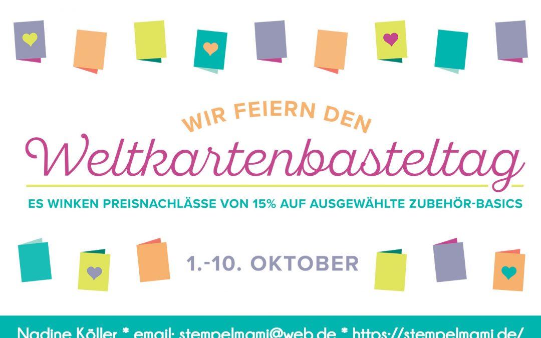 15% Rabatt zum Weltkartenbasteltag