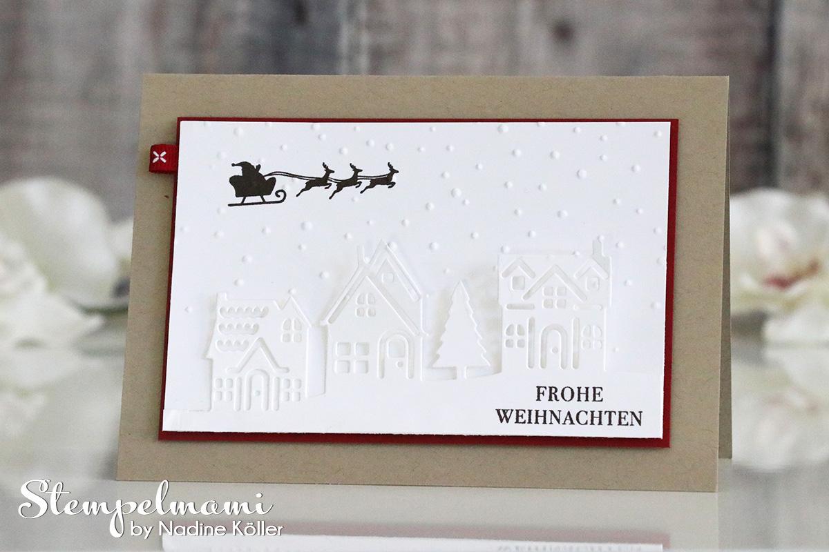 weihnachtskarte weihnachten daheim basteln mit stampin up. Black Bedroom Furniture Sets. Home Design Ideas