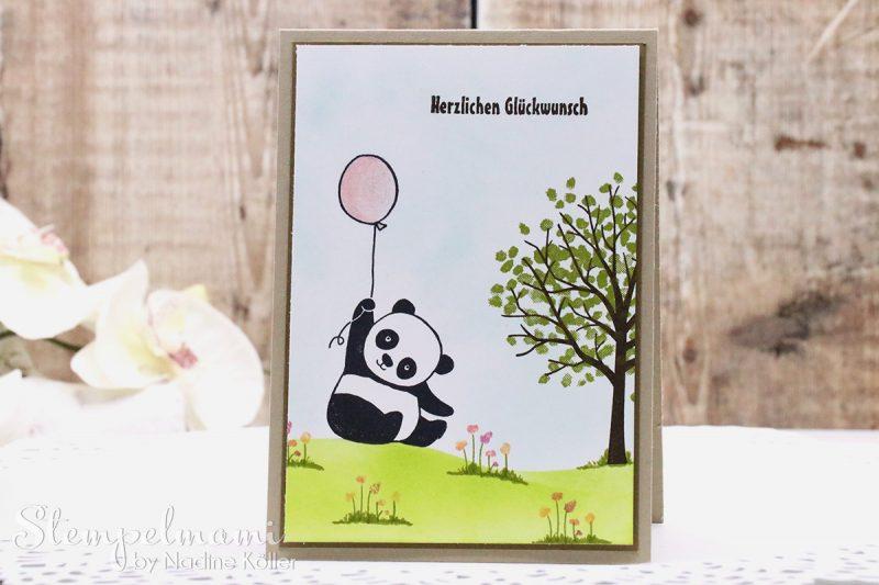 stampin up geburtstagskarte karte geburtstag kinder party pandas sale a bration baum der freundschaft stempelmami 2
