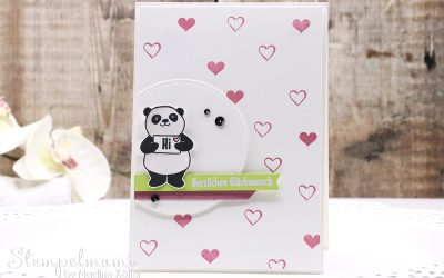 Geburtstagskarte Party Pandas