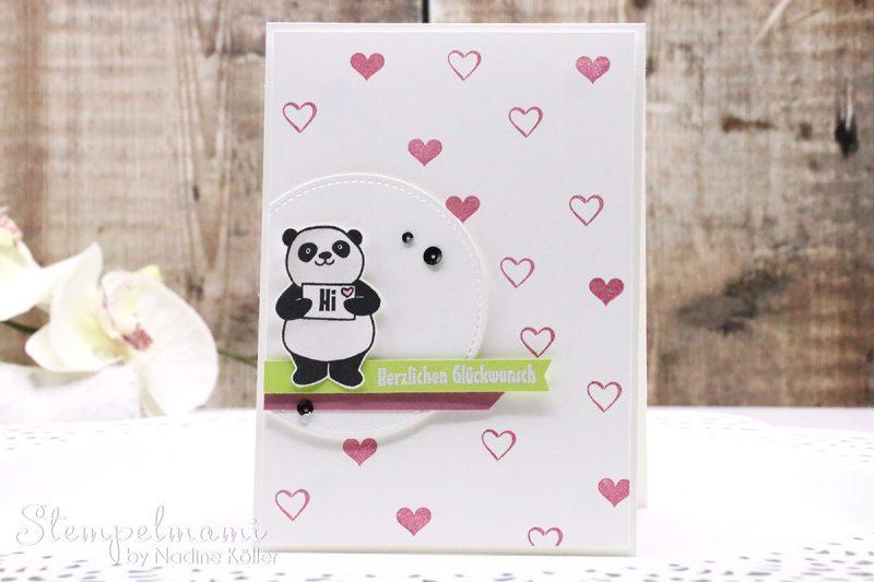 Geburtstagskarte party pandas basteln mit stampin up - Geburtstagskarte basteln kinder ...