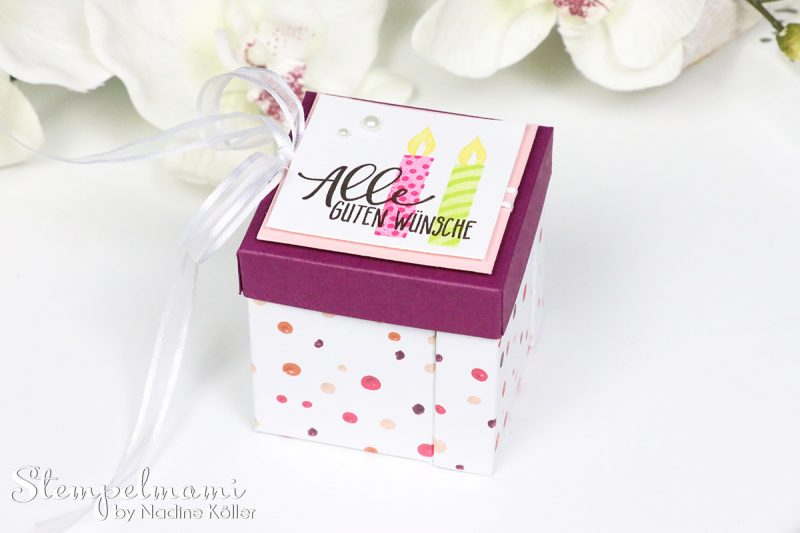 stampin up anleitung tutorial explosion gift box stempelmami 1