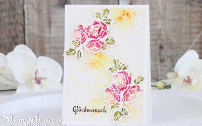 Geburtstagskarte Blütentraum