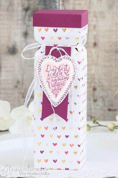stampin up knallbonbon box valentinstag valentin gemalt mit liebe geschenk stempelmami