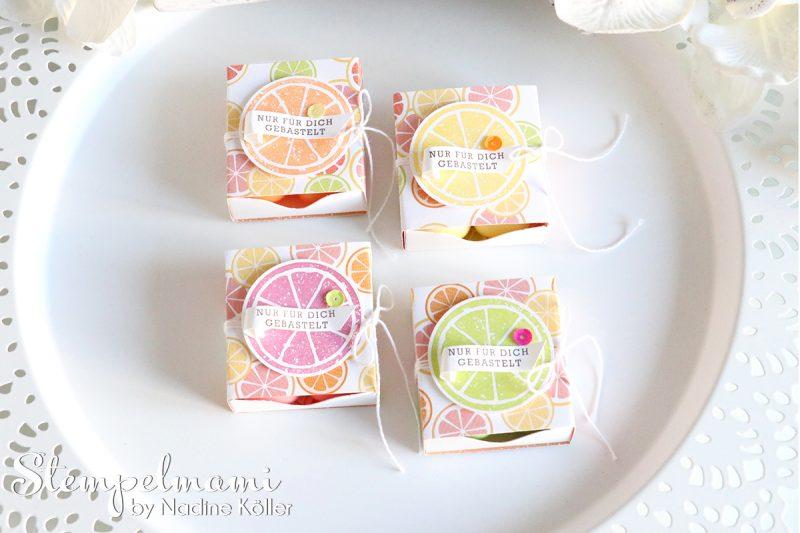stampin up matchbox tutti frutti envelope punch board stanz und falzbrett fuer umschlaege box schachtel stempelmami 3