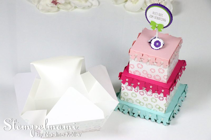 stampin up geburtstagsparty torte inspiration art blog hop stempelmami