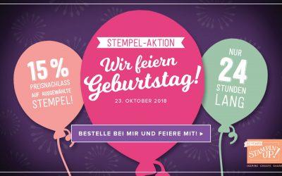 Stampin Up 15 Prozent Rabatt, Wir feiern Geburtstag!