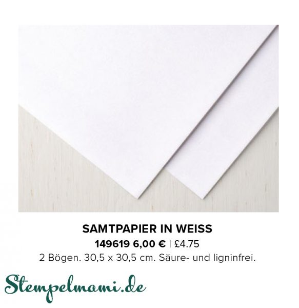 stampin up aktion flockengestoeber samtpapier in weiss stempelmami 1