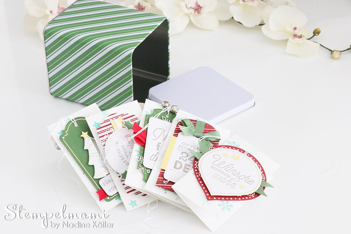 weihnachtskarten aller geschenke anhang basteln mit stampin up. Black Bedroom Furniture Sets. Home Design Ideas