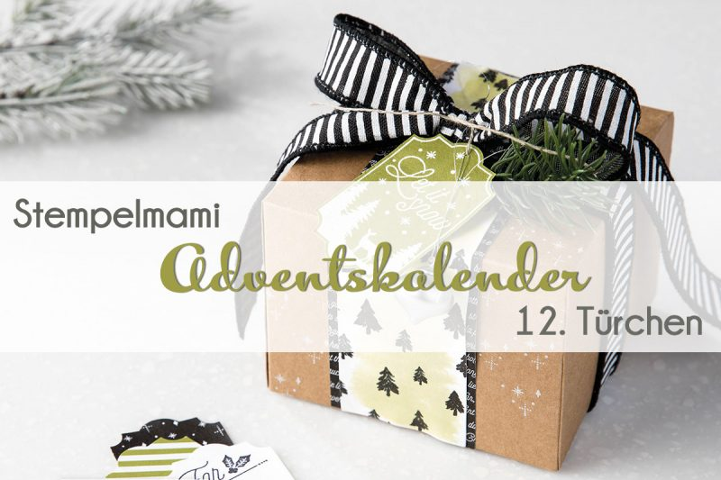 stampin up adventskalender tuer 12 stempelmami