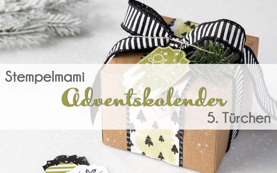 stampin up adventskalender tuer 5 stempelmami