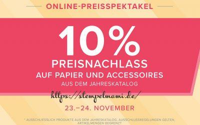 Stampin Up Online Preisspektakel 10% Rabatt