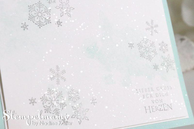 stampin up video anleitung weihnachtskarte flockenfantasie mit glanzfarbe stempelmami 2