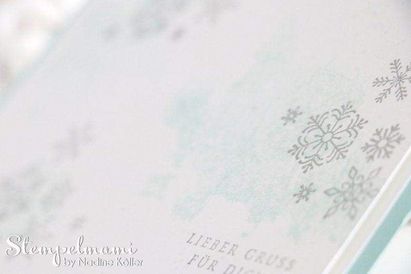stampin up video anleitung weihnachtskarte flockenfantasie mit glanzfarbe stempelmami 3