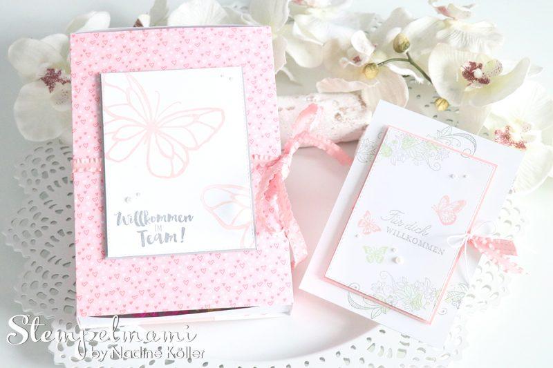 stampin up grusskarte willkommen im team willkommens geschenk karte voller schoenheit designerpapier in liebe stempelmami 3