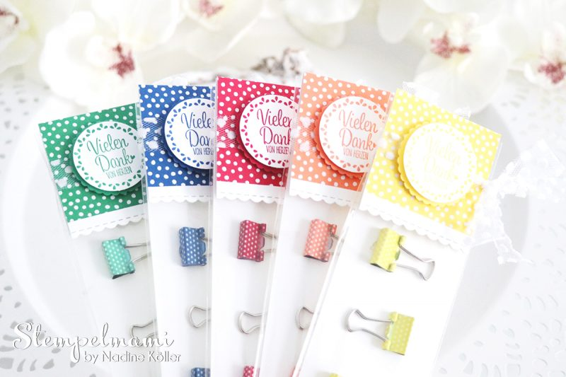 stampin up goodies mit mini klemmen in color 2018 - 2020 quartett fuers etikett stempelmami 1