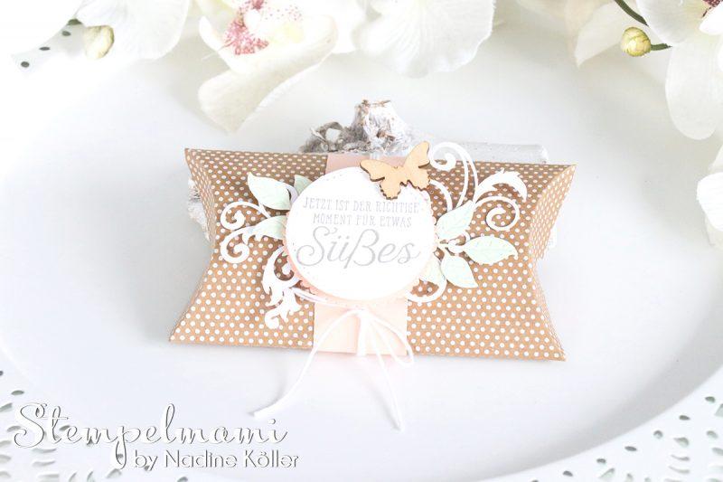 stampin up sandfarbene kissenschachtel pillow box wortreich stempelmami laser designerpapier 3