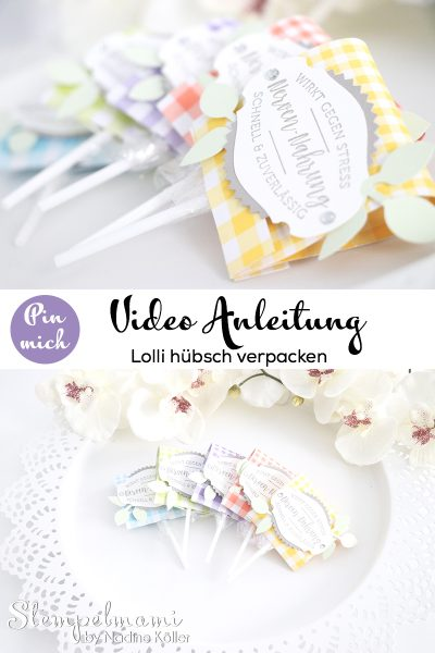 stampin up video anleitung lolli verpacken goodie gartenglueck wortreich stempelmami youtube pinterest pin it