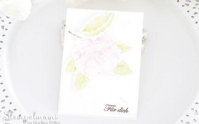 Grusskarte Magnoliengruss