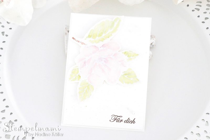 stampin up grusskarte magnoliengruss embossing aquarel karte stempelmami