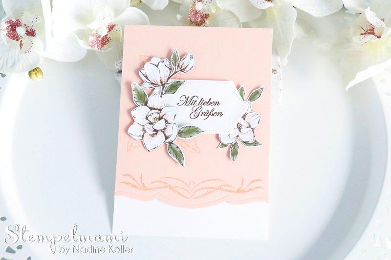 stampin up grusskarte mit magnoliengruss stempelmami 1