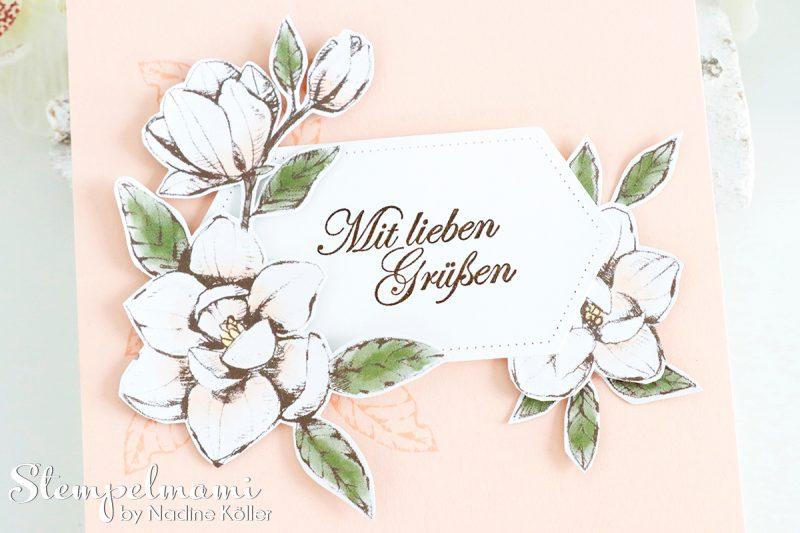 stampin up grusskarte mit magnoliengruss stempelmami