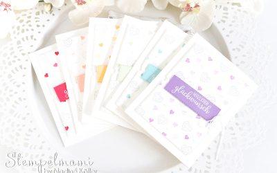Geburtstagskarten in Regenbogenfarben