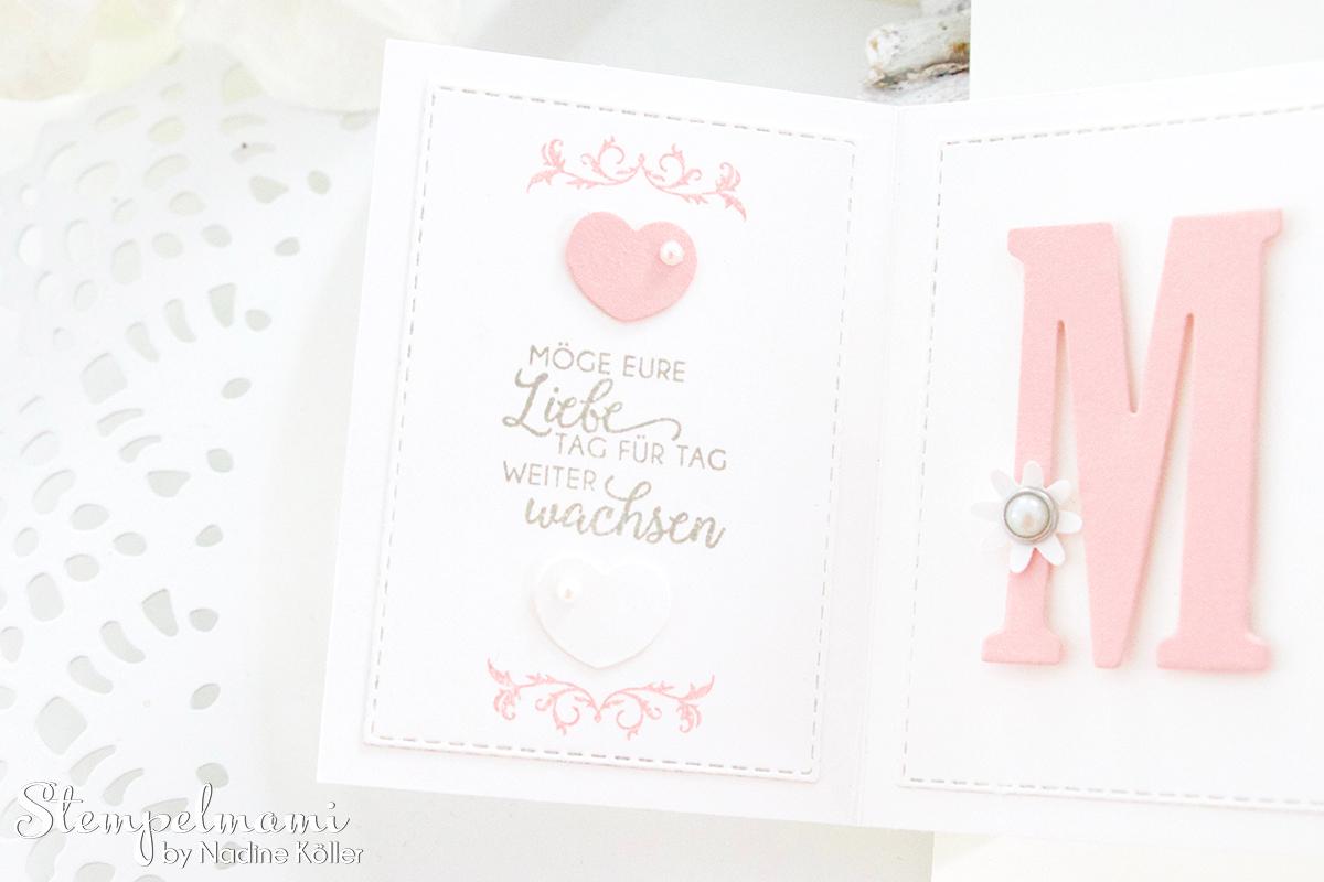 Stampin Up-Hochzeitskarte-Produktpaket Gewebte Worte-Portraetrahmen-Pop Up Panel Karte-Stempelmami 1