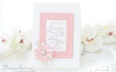 Hochzeitskarte Gewebte Worte mit verlinkter Anleitung
