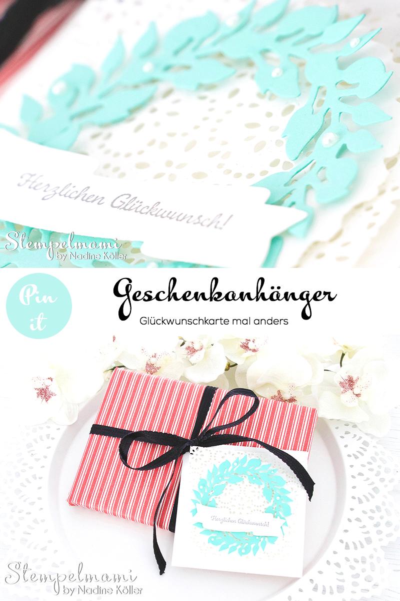 stampin up glueckwunschkarte als geschenkanhaenger karte gruener kranz weihnachtskardinal stempelmami 4