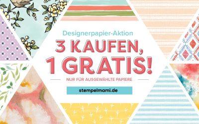 Gratis Designerpapier Aktion 3 kaufen 1 Gratis dazu
