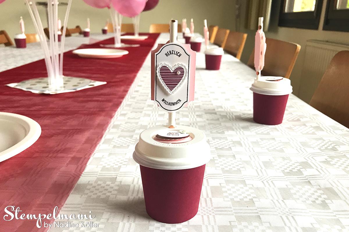 Stampin Up Gastgeschenk Kaffeebecher als Partydekoration Alles auf Anhang Partydeko Goodie Stempelmami 6