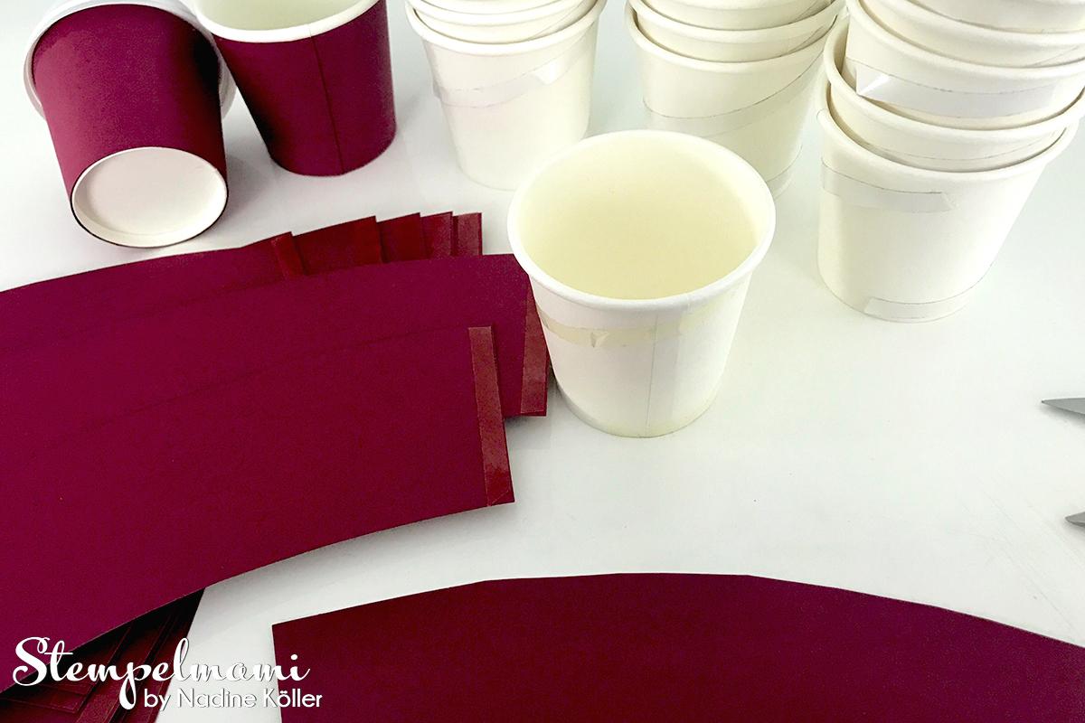 Stampin Up Gastgeschenk Kaffeebecher als Partydekoration Alles auf Anhang Partydeko Goodie Stempelmami 7