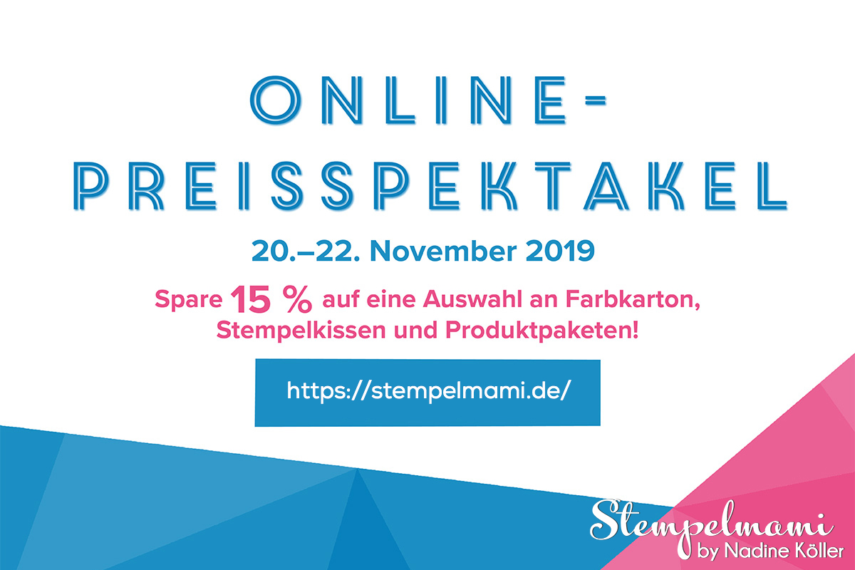 Stampin Up Online Preisspektakel November 2019