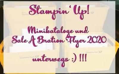 Stampin Up Minikataloge und Sale A Bration Flyer 2020 unterwegs